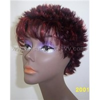 wig, synthetic hair
