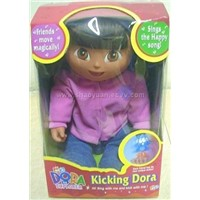Dora the explorer,Kicking Doll,Doll,Music Doll,Dolls,Pussy Cat Doll,Barbie Doll,Doll House