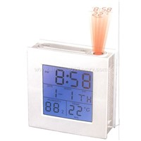 World Time Projection Clock with FM Radio