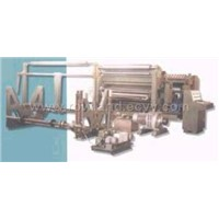 Single faced corrugated paperboard production line
