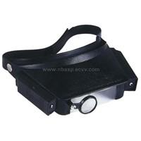 headband magnifier, illuminated