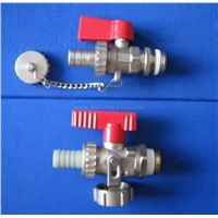 Brass ball valve with a cap