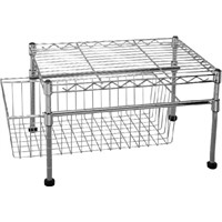 rack with basket