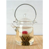 Glass Teapot with Stainless Steel Handle(e07013)