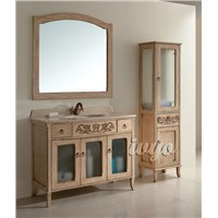 Solid Wood Classical Bathroom Cabinet (Aosta)