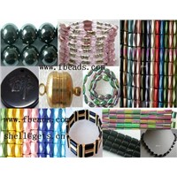 magnetic hematite colorful bracelets beads