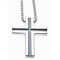 Cross Shape Double Tungsten Pendant