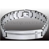 Id Tungsten Bracelet with Zr. Stone