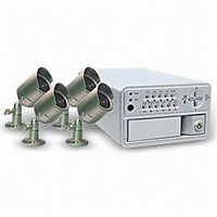 Four-channel DVR Surveillance System with Four Camera