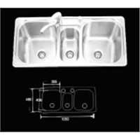 Stainless Steel Kitchen Sink (KAD044)