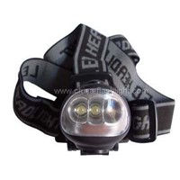 Plastic Dynamo 3 LED Headlamp / Headlight
