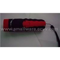 Hand winding flashlight with compass