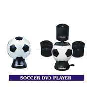Football shape DVD player