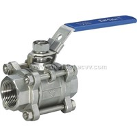 3 pcs type threaded ball valve