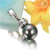 925 sterling silver pendant w/pearl