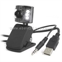 1300k Pixels Webcam with 6 LEDs and Mic