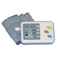 Talking arm-cuff blood pressure monitor