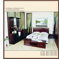 Solid Wood Bedroom Furniture Series