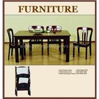 Solid Wood Dining Tables &chairs