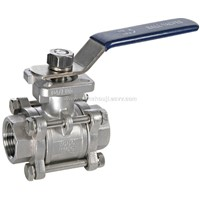 3-pc Thread Ball Valve With Mounting Pad