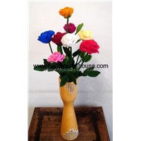 Knitted decorative flower