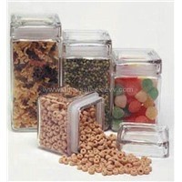 Glass Square Jars