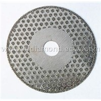 electro-plated diamond cutting saw blade