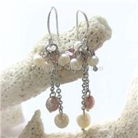 Silver freash water pearls earrings