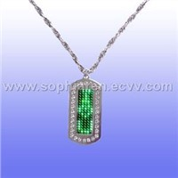 #3 Rhinestone Dog Tag With Scrolling Programmable