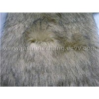 faux(fake) fur fabric: Printed Plush;