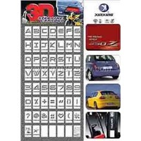 chromed car badge
