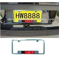 Car Number Plate Message Display