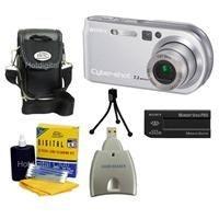 Sony Cybershot DSC-P200 / R Digital Camera Red/Sil