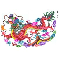 Chinese paper-cut painting - China dragon