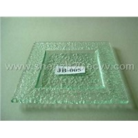 Square glass plate