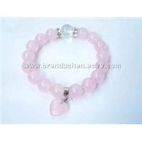 Rose Quartz Bracelets (No. fjs65)