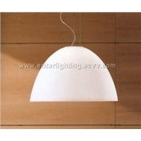 Glass pendant lamp