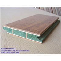 3 layers bamboo parquet with strength bar