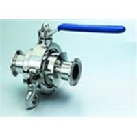 Sanitary non-residue ball valve