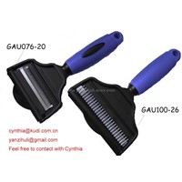 2-in-1 dog de-shedding brush