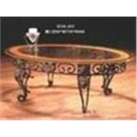 metallic and glass table /chair