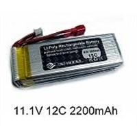 3E Mooel 11.1V 2200mAh 15C Rechargeable Li-Polymer Battery