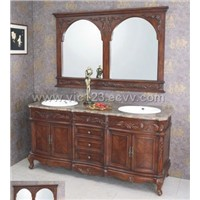 Antique Solid Wood Bathroom Furniture (A-835)