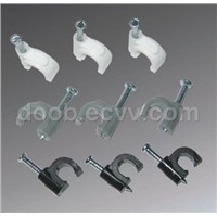 Round cable clip