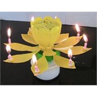 Birthday Music Candle--Flower shape