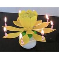 Birthday Music Candle--Flower shape