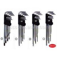 9pcs Extra Long Hex Key Wrench Set Gs/Tuv