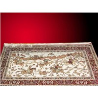 handmade silk carpet and rug