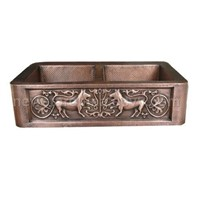 Sell Kitchen Double Bowl Copper Sink (Sinks)