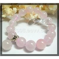 Pink Crystal Round Bracelet